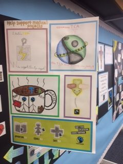 Fairtrade and medical projects poster